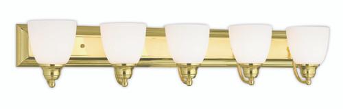 LIVEX Lighting 10505-02 Springfield Bath Light in Polished Brass (5 Light)