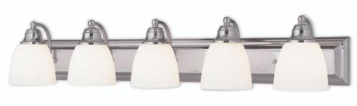 LIVEX Lighting 10505-05 Springfield Bath Light in Polished Chrome (5 Light)