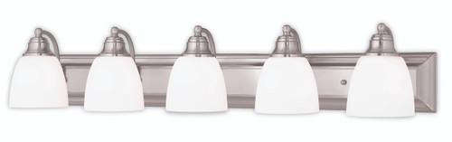 LIVEX Lighting 10505-91 Springfield Bath Vanity in Brushed Nickel (5 Light)