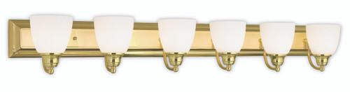 LIVEX Lighting 10506-02 Springfield Bath Light in Polished Brass (6 Light)