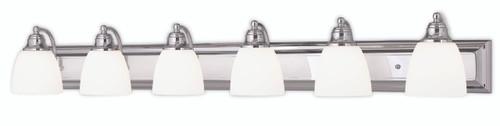 LIVEX Lighting 10506-05 Springfield Bath Light in Polished Chrome (6 Light)