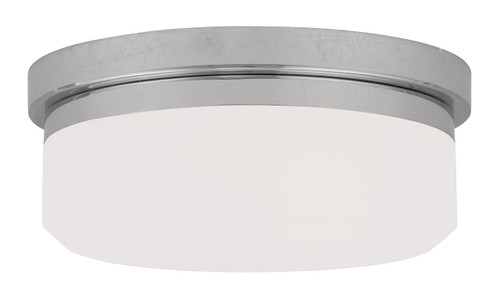 LIVEX Lighting 7391-05 Stratus Contemporary Flushmount/Wall Mount in Polished Chrome (2 Light)