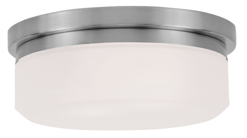 LIVEX Lighting 7391-91 Stratus Contemporary Flushmount/Wall Mount in Brushed Nickel (2 Light)