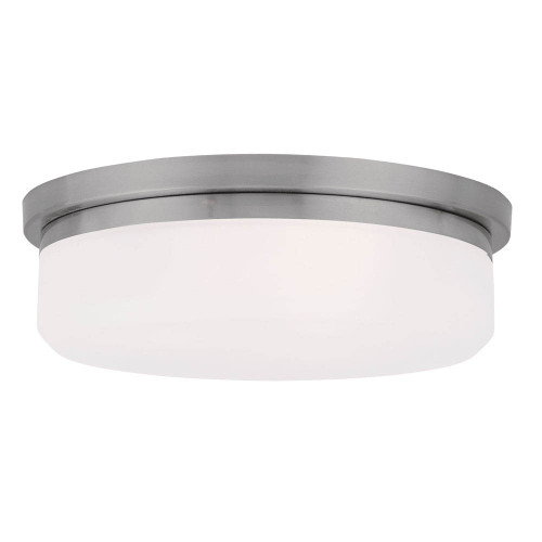 LIVEX Lighting 7392-91 Stratus Contemporary Flushmount/Wall Mount in Brushed Nickel (2 Light)