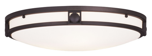LIVEX Lighting 4488-07 Titania Flushmount in Bronze (3 Light)