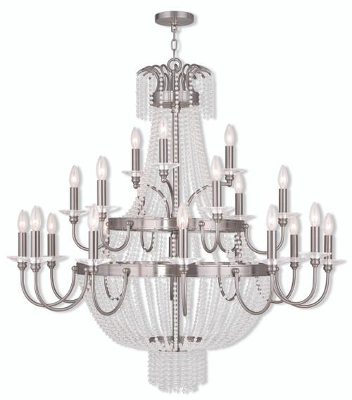 LIVEX Lighting 51877-91 Valentina Foyer Chandelier in Brushed Nickel (21 Light)
