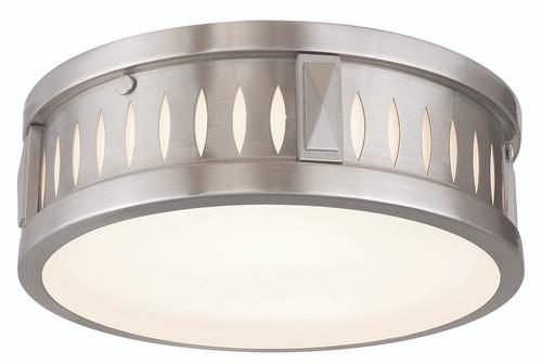 LIVEX Lighting 65507-91 Vista Flushmount in Brushed Nickel (2 Light)
