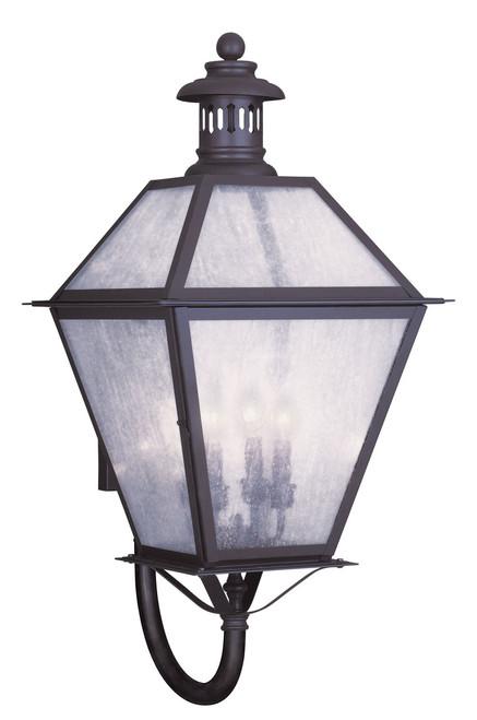 LIVEX Lighting 2050-07 Waldwick Outdoor Wall Lantern in Bronze (4 Light)