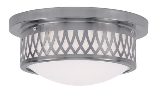 LIVEX Lighting 7351-91 Westfield Flushmount in Brushed Nickel (2 Light)
