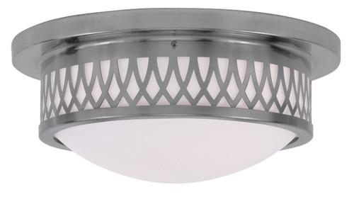 LIVEX Lighting 7352-91 Westfield Flushmount in Brushed Nickel (2 Light)