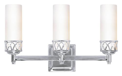 LIVEX Lighting 4723-05 Westfield Bath Light in Polished Chrome (3 Light)