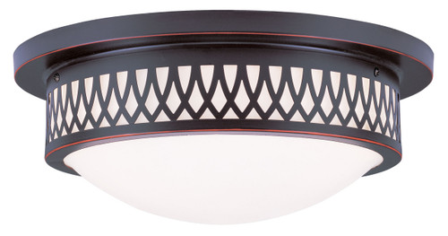 LIVEX Lighting 7353-67 Westfield Flushmount in Olde Bronze (3 Light)