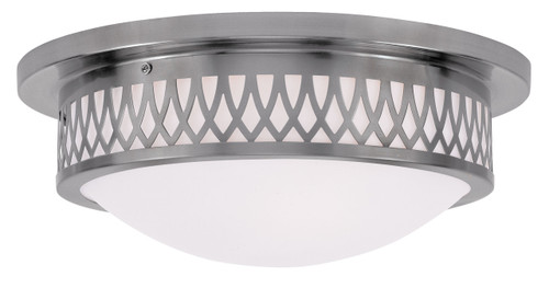LIVEX Lighting 7353-91 Westfield Flushmount in Brushed Nickel (3 Light)