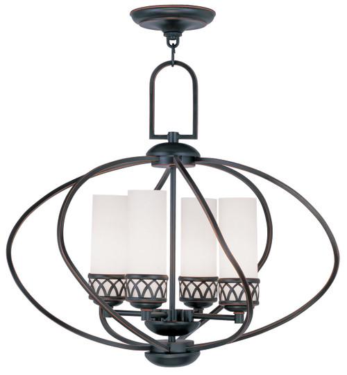 LIVEX Lighting 4724-67 Westfield Chandelier in Olde Bronze (4 Light)