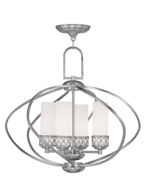 LIVEX Lighting 4724-91 Westfield Chandelier in Brushed Nickel (4 Light)