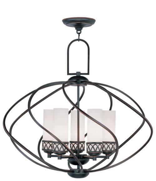 LIVEX Lighting 4725-67 Westfield Chandelier in Olde Bronze (5 Light)