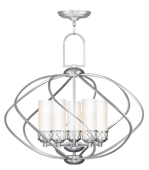 LIVEX Lighting 4725-91 Westfield Chandelier in Brushed Nickel (5 Light)