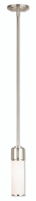 LIVEX Lighting 52111-35 Weston Contemporary Mini Pendant in Polished Nickel (1 Light)