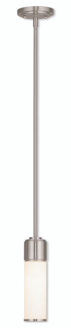 LIVEX Lighting 52111-91 Weston Contemporary Mini Pendant in Brushed Nickel (1 Light)