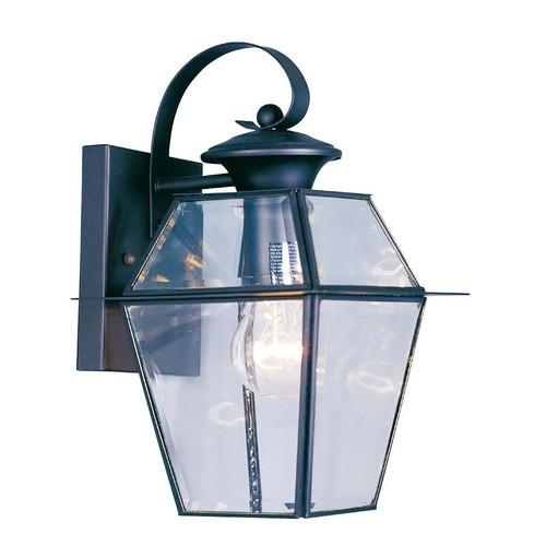 LIVEX Lighting 2181-04 Westover Outdoor Wall Lantern in Black (1 Light)