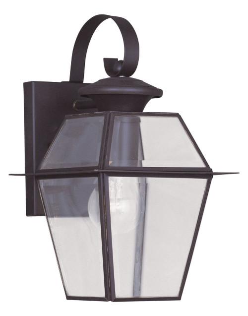 LIVEX Lighting 2181-07 Westover Outdoor Wall Lantern in Bronze (1 Light)