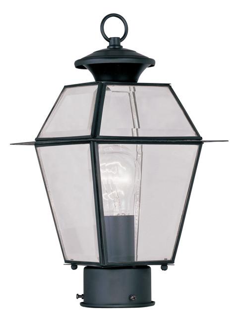LIVEX Lighting 2182-04 Westover Outdoor Post Lantern in Black (1 Light)
