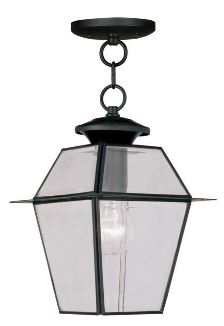 LIVEX Lighting 2183-04 Westover Outdoor Chain Lantern in Black (1 Light)