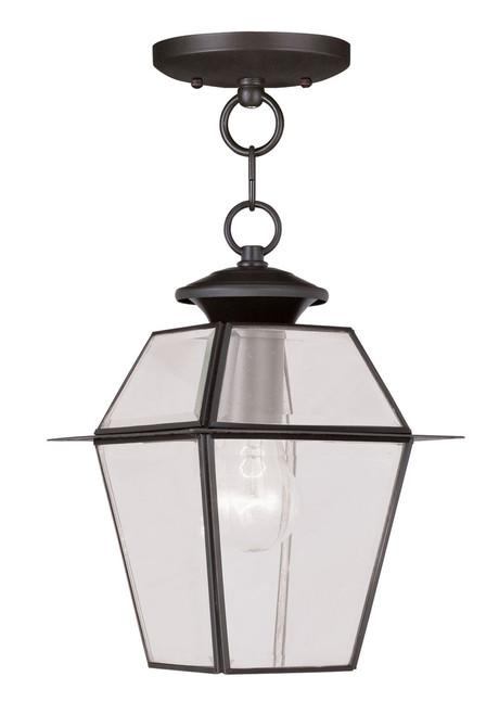 LIVEX Lighting 2183-07 Westover Outdoor Chain Lantern in Bronze (1 Light)