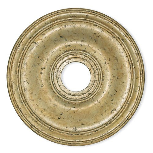 LIVEX Lighting 8219-28 Wingate Ceiling Medallion with Hand-Applied Winter Gold