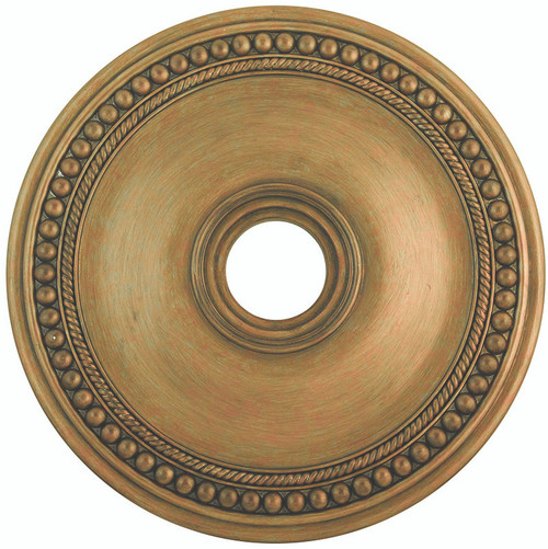 LIVEX Lighting 82075-48 Wingate Ceiling Medallion with Hand-Painted Antique Gold Leaves