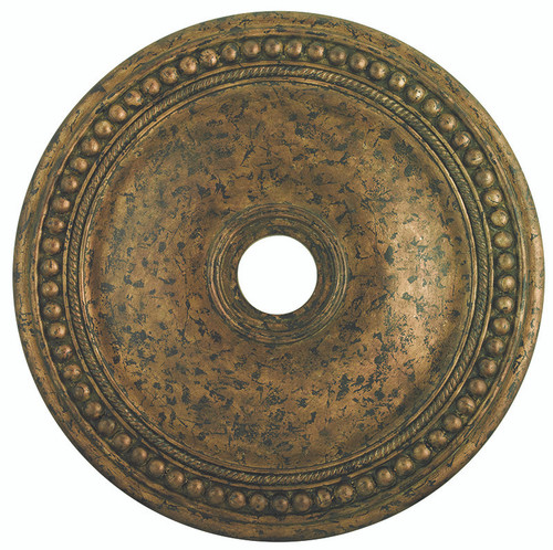 LIVEX Lighting 82076-71 Wingate Ceiling Medallion with Hand-Applied Venetian Golden Bronze