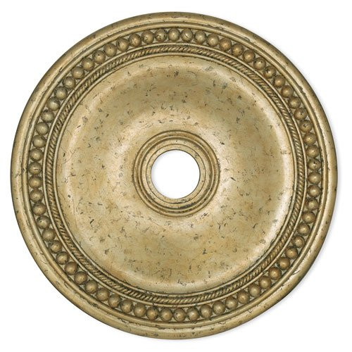 LIVEX Lighting 82076-28 Wingate Ceiling Medallion with Hand-Applied Winter Gold