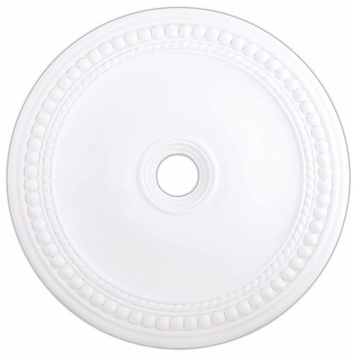 LIVEX Lighting 82077-03 Wingate Ceiling Medallion in White