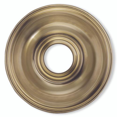 LIVEX Lighting 8217-01 Ceiling Medallion in Antique Brass