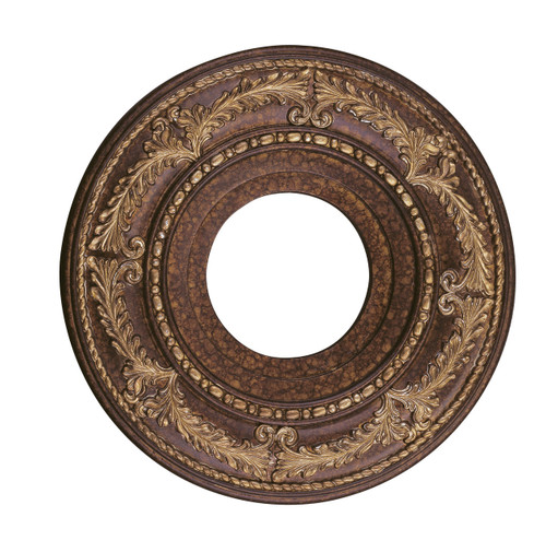 LIVEX Lighting 8204-64 Ceiling Medallion in Palacial Bronze with Gilded Accents