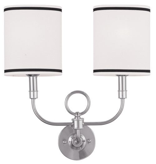 LIVEX Lighting 9122-91 Wall Sconce in Brushed Nickel (2 Light)