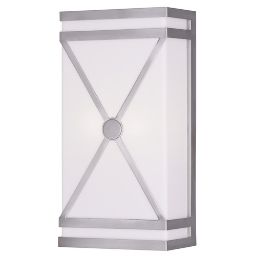 LIVEX Lighting 9415-91 Wall Sconce in Brushed Nickel (2 Light)