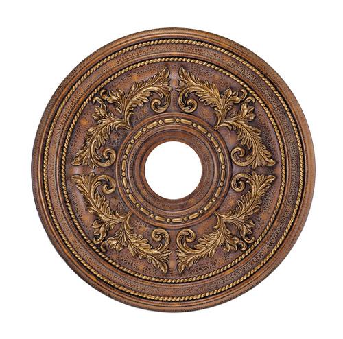 LIVEX Lighting 8200-30 Ceiling Medallion in Crackled Greek Bronze