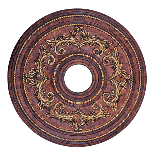 LIVEX Lighting 8200-63 Ceiling Medallion in Verona Bronze with Aged Gold Leaf Accents