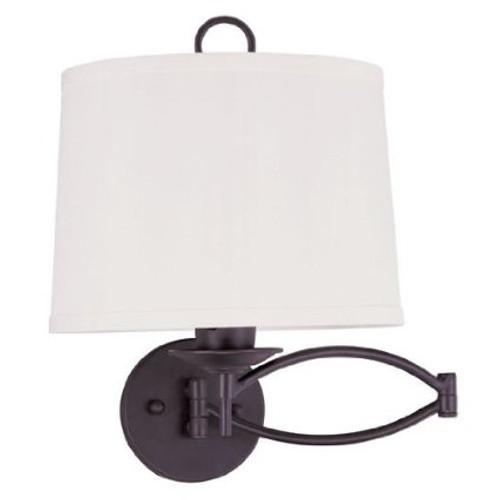 LIVEX Lighting 4903-07 Swing Arm Wall Lamp in Bronze (1 Light)