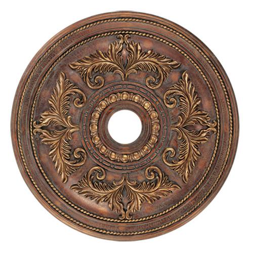 LIVEX Lighting 8210-30 Ceiling Medallion in Crackled Greek Bronze