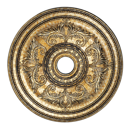 LIVEX Lighting 8210-65 Ceiling Medallion with Hand-Painted Vintage Gold Leaves