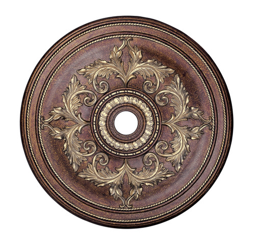 LIVEX Lighting 8211-64 Ceiling Medallion in Palacial Bronze with Gilded Accents