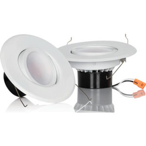 Luminance F9907-30 LED Recessed Gimbal Downlight in White