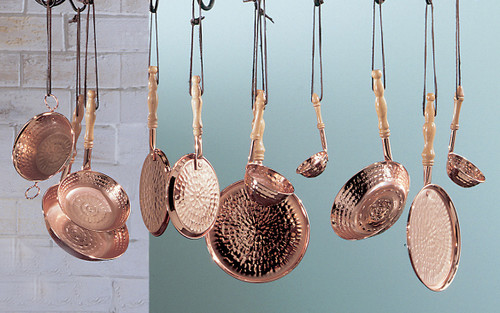 Classic Lighting CopperPots Country Kitchen Wrought Iron Decor