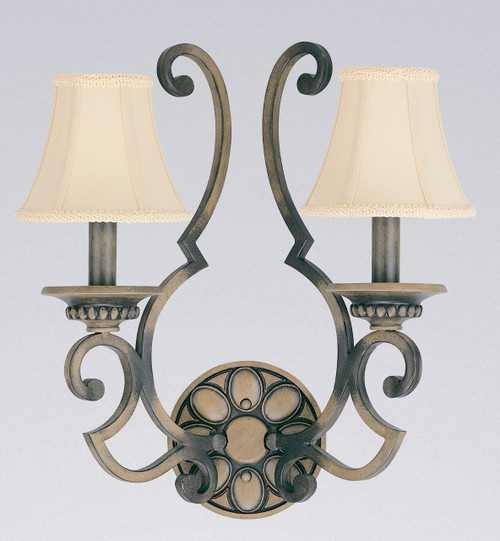Classic Lighting 92702 HRW Westchester Wrought Iron Wall Sconce in Honey Walnut