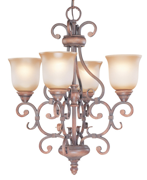 Classic Lighting 92234 HRM Eagle Pointe Wrought Iron Chandelier in Hand-Rubbed Mahogany