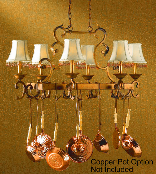 Classic Lighting 92208 CPB Asheville Wrought Iron Island Light in Copper Bronze