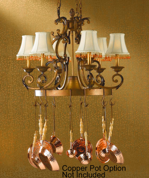 Classic Lighting 92207 CPB Asheville Wrought Iron Island Light in Copper Bronze
