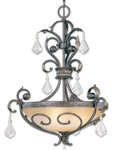 Classic Lighting 92123 BZG CP Avalon Crystal Pendant in Bronze/Gold